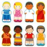 Hölzernes Kind-pädagogisches Spiel-rassische kognitive Leute blocken Puzzlespiel