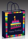 Sacos de papel do portador do presente da arte dos produtos da festa de anos
