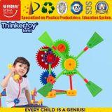 Juguetes creativos plásticos del molino de viento del bloque hueco de la educación del En 71 DIY