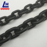 catena verniciata il nero G80 dell'acciaio legato di 7mmx21mm