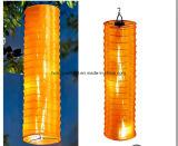 Linterna colgante solar colgante solar de la linterna de diverso color de la decoración larga del jardín con talla larga