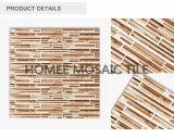 El grano de madera de la tira descontado embaldosa el vidrio cristalino barato Backsplash de mosaico