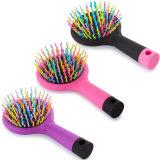 Pettine di plastica promozionale di vendita caldo della spazzola di capelli di massaggio di disegno di modo