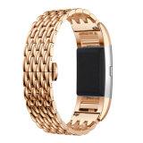 Banden van het Horloge van het Roestvrij staal van de nieuw-aankomst de Stevige voor Fitbit Last 2