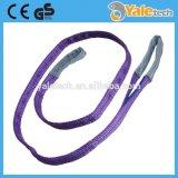 Doppia imbracatura della tessitura del poliestere della piega/imbracatura di sollevamento/cinghia dell'imbracatura