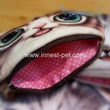 Bolso relleno cara linda de señora Woman Coin Purse Key de la felpa del gato