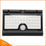 Foldable 태양 강화된 42 LED 옥외 PIR 운동 측정기 정원 벽 안전 빛