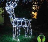 Luz accionada solar de los ciervos de la lámpara 3D de los ciervos del LED