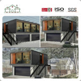 Casa prefabricada modular económica del envase con el garage