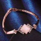 Bijou de bracelet de femmes de pierre gemme plaqué par or de Rose de mode