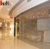 Porte en cristal d'obturateur de rouleau de polycarbonate transparent pour le centre commercial