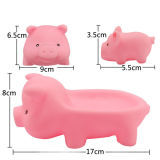 El vinilo suave Mini cerdo Rosa bebé juguetes de baño