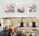 Belle foto del fiore con la parete del blocco per grafici che appende per la decorazione