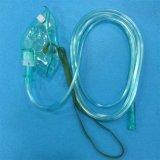 Máscara de oxígeno de la mascarilla del equipamiento médico (verde, alargados pediátricos con aislante de tubo)
