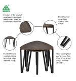 3개의 끝 Liv를 위한 금속 관을%s 가진 전화 탁자 브라운 현대 여가 목제 테이블을 겹쳐 쌓이는 옆 테이블 밤 대 테이블 중첩 구석 테이블의 커피용 탁자 세트