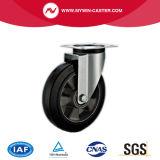 6 Schwenker-des Aluminiumkern-Europa-Zoll Typ-industrielles Fußrollen-Gummi-Rad