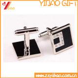 Kundenspezifischer silberner Form-Manschettenknopf für Förderung-Geschenke (YB-cUL-01)