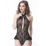 Cross-Border Black Lace Backless encolure en V profond Lingerie Sexy