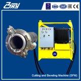"""60 """" - 72 """"のためのOd取付けられた携帯用油圧ディーゼル分割されたフレームまたは管の切断そして斜角が付く機械(1524mm-1828.8mm)"""