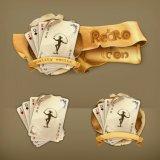 Wort-Karten-Partei-Familien-Verein-Spiel-Erholung-Papier-Plastikschürhaken