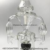 Tubo di acqua di vetro in-linea del tubo di fumo del narghilé della vasca di gorgogliamento delle caffettiere a filtro di Perc dello spruzzatore
