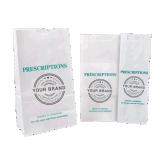 Bolsos de papel genéricos y estilizados de la farmacia de la receta