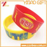 Bracelet fait sur commande de silicones de logo, bracelet de silicones (XY-ST-002)