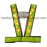 熱い販売LEDのオレンジ反射ベスト反射テープ