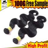 Noir de gicleur brésilien de cheveu de type d'onde neuve de corps