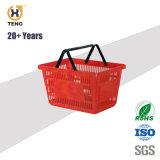 32L grande supermercado portátil japonês de PP de plástico cesto de compras