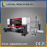 Etiqueta autoadhesiva de alta velocidad de rebobinado de dúplex de corte longitudinal la máquina