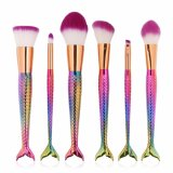 7PCS Mermaid Makeup Ajuste da Escova