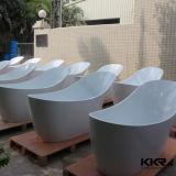 Baignoire extérieure solide ovale noire moderne de Kingkonree