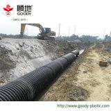 Tubo ondulato di rinforzo di spirale composita della fascia d'acciaio dell'HDPE del grande diametro