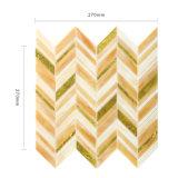 Покрасьте плитку мозаики стеклянной стены золота для домашнего украшения