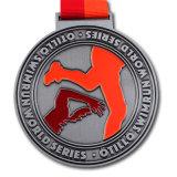Medaglia e trofeo su ordinazione del ricordo per l'evento di sport