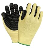 Nivel 5 de aramida resistentes a cortes de tejido de alambre de acero guantes de seguridad