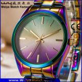 Montre-bracelet occasionnelle de mode de dames d'acier inoxydable d'ODM (WY-P17003A)