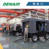 25 bares 1200 cfm móviles del motor Diesel compresor de aire de tornillo