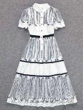 Женщины высокого качества одевая отбортовывающ платье вечера партии шнурка Sequin полное для женщин