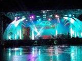 移動ヘッド照明のためのコンサートの段階のトラス回転円