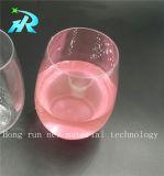 Stemless пластичное стекло вина кривого перста 220ml, пластичный кубок вина