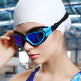 普及した専門家は青いシリコーンの大人の水泳のゴーグルを分極した