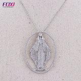 De Silver van het zirconiumdioxyde Juwelen van de Tegenhanger San Benito Image Pendant Necklace