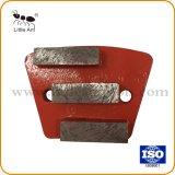 Trois segments outil diamant meulage les plaques de plancher de béton le polissage