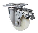"""roue lourde de chasse d'acier inoxydable de 4 """" /5 """" /6 """" /8 """" Nylon/PP avec le double frein"""