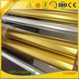 Tuyauterie ronde en aluminium d'or argentée Polished pour la balustrade de balcon