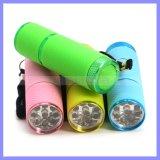 OEM ODM het Zonne Navulbare Flitslicht van de Toorts van de Koplamp van de Fiets van de Lamp Keychain Lichte UV
