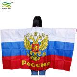 Bandierina ecologica della Russia del capo del corpo del poliestere del ventilatore di calcio
