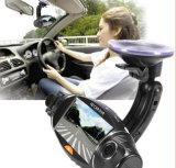 HD Dual-Lens GPS Detección de la gravedad de visión nocturna de grabadora de conducir